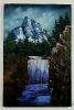 Gebirgswasserfall Bob Ross Ölbild 10408