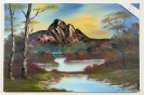 Herbstliches Bergmoor Bob Ross Ölbild 10493