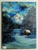 Huette im Winterwald Bob Ross Ölbild 10307