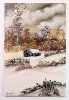 Huette im Winterwald Bob Ross Ölbild 10346