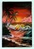 Karibik in der Abenddaemmerung Ilse Wernhard Ölbild 10391