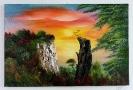 Kreidefelsen auf Ruegen Ilse Wernhard Ölbild 10375