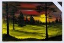 Nachtwald Bob Ross Ölbild 10498