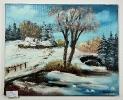 Schneelandschaft Ilse Wernhard Ölbild 10157