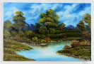 See im Wald Bob Ross Ölbild 10374