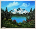 See mit Berge Bob Ross Ölbild 10154