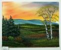 Sonnenuntergang Bob Ross Ölbild 10158