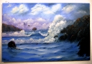 stuermisches Meer Joyce Ortner Ölbild 10125