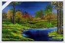 Waldbach Bob Ross Ölbild 10495