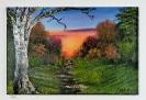 Waldweg Bob Ross Ölbild 10253