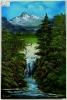 Wasserfall Bob Ross Ölbild 10314