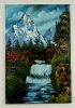 Wasserfall Bob Ross Ölbild 10395