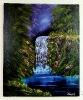 Wasserfall Bob Ross Ölbild 10416