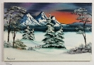 Winterlandschaft Bob Ross Ölbild 10266