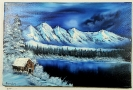 Winterlandschaft Bob Ross Ölbild 10338