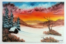 Winterlandschaft Bob Ross Ölbild 10351