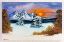 Winterlandschaft Bob Ross Ölbild 10382