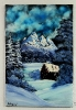 Winterlandschaft Bob Ross Ölbild 10399