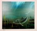 Delphin Bob Ross Ölbild 10210