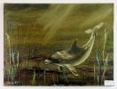 Delphin Bob Ross Ölbild 10323