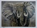 Elefant Bob Ross Ölbild 10209