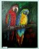 2 Papageien Jenkins Art Ölbild 10150