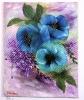 blaue Mohnblumen Jenkins Art Ölbild 10126