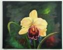 gelbe Orchidee Jenkins Art Ölbild 10134
