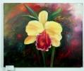 gelbe Orchidee Jenkins Art Ölbild 10141
