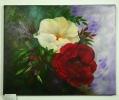 gelbe und rote Rose Jenkins Art Ölbild 10139