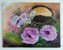 Korb mit Rosen Jenkins Art Ölbild 10448