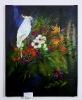 Papagei mit Exotischen Blumen Jenkins Art Ölbild 10171