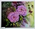 rosa Rosen Jenkins Art Ölbild 10140