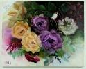 Rosen mit Vogel Jenkins Art Ölbild 10468
