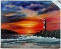 Leuchturm Joyce Ortner Ölbild 10469